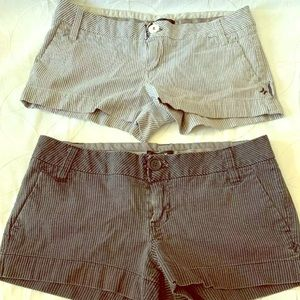 Lot Of 2 Hurley Girls Shorts, size JR 3